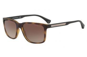 6dcf2cd5d97 Armani EA4047 Sunglasses 559413-56 - Havana Rubber Frame