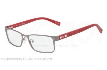 50912acdf25 Armani Exchange AX1003 Progressive Prescription Eyeglasses 6017-52 - Satin  Gunmetal Frame