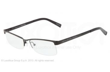 Armani Exchange AX1005 Single Vision Prescription Eyeglasses 6000-52 - Black Frame