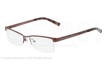 Armani Exchange AX1005 Single Vision Prescription Eyeglasses 6001-52 - Brown Frame