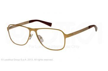 Armani Exchange AX1008 Single Vision Prescription Eyeglasses 6026-55 - Satin Light Gold Frame