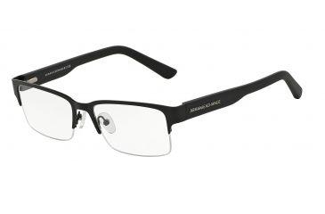 366509d7760 Armani Exchange AX1014 Progressive Prescription Eyeglasses 6063-53 - Satin  Black Matte Black Frame