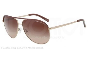 Armani Exchange AX2002 Progressive Prescription Sunglasses AX2002-601013-61 - Lens Diameter 61 mm, Frame Color Light Gold/dark Brown
