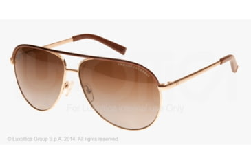 Armani Exchange AX2002 Sunglasses 6010T5-61 - Light Gold/dark Brown Frame, Brown Gradient Polarized Lenses