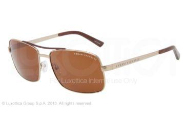 Armani Exchange AX2004 Progressive Prescription Sunglasses AX2004-600973-60 - Lens Diameter 60 mm, Frame Color Light Gold/brown