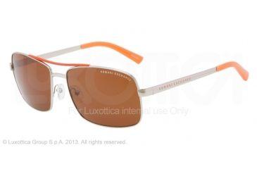 Armani Exchange AX2004 Progressive Prescription Sunglasses AX2004-602273-60 - Lens Diameter 60 mm, Frame Color Silver/clementine