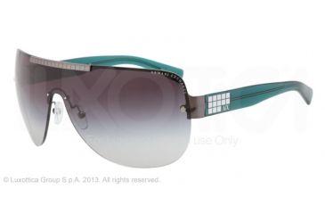Armani Exchange AX2005 Sunglasses 600511-39 - Gunmetal/alpine Green Frame, Grey Gradient Lenses