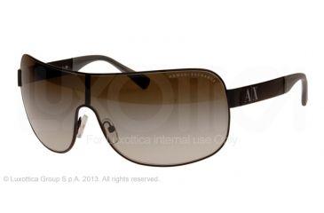 Armani Exchange AX2008 Sunglasses 60148E-37 - Satin Black Frame, Green Gradient Lenses
