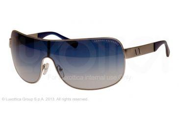 Armani Exchange AX2008 Sunglasses 60204L-37 - Satin Silver Frame, Blue Gradient Lenses
