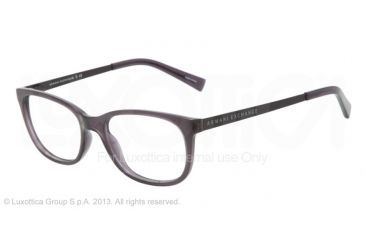 Armani Exchange AX3005 Bifocal Prescription Eyeglasses 8005-52 - Black Transparent Frame