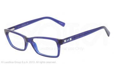 Armani Exchange AX3007 Progressive Prescription Eyeglasses 8018-53 - Marine Transparent Frame