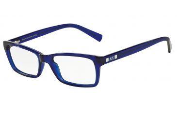 168e7d05250 Armani Exchange AX3007 Eyeglass Frames 8018-53 - Marine Transparent Frame