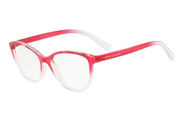 62231724bd Armani Exchange AX3053 Prescription Eyeglasses 8254-53 - Transp  Pink Crystal Frame