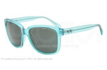 Armani Exchange AX4002 Progressive Prescription Sunglasses AX4002-801071-56 - Lens Diameter 56 mm, Frame Color Bright Spearmint Transparent