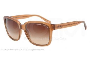 Armani Exchange AX4002 Progressive Prescription Sunglasses AX4002-801313-56 - Lens Diameter 56 mm, Frame Color Champagne Transparent