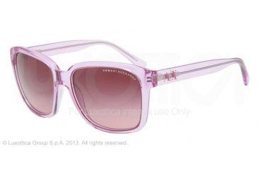 Armani Exchange AX4002 Progressive Prescription Sunglasses AX4002-80338H-56 - Lens Diameter 56 mm, Frame Color Pastel Orchid Transparent
