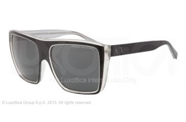 Armani Exchange AX4004 Sunglasses 800687-59 - Black/mirage Grey Frame, Grey Solid Lenses