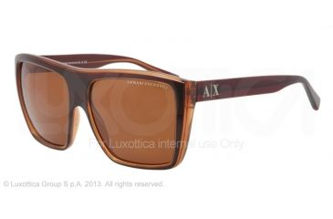 Armani Exchange AX4004 Sunglasses 801273-59 - Brown/champagne Frame, Brown Solid Lenses