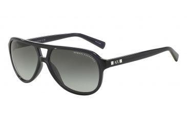 Armani Exchange AX4011 Sunglasses 800511-59 - Black Transparent Frame, Grey  Gradient Lenses cddf813827