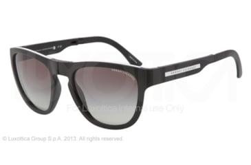 Armani Exchange AX4012 Sunglasses 800411-54 - Black/White Frame, Grey Gradient Lenses