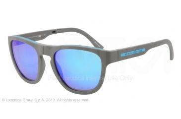 Armani Exchange AX4012 Sunglasses 801533-54 - Grey/blue Frame, Light Blue Mirror Lenses