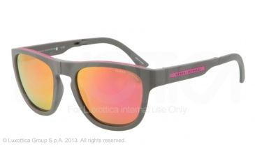 Armani Exchange AX4012 Sunglasses 80154V-54 - Grey/Pink Frame, Purple Mirror Lenses