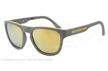 Armani Exchange AX4012 Sunglasses 801573-54 - Grey/yellow Frame, Gold Mirror Lenses