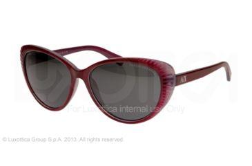Armani Exchange AX4013 Sunglasses 805687-59 - Burgundy/light Chrome Frame, Grey Solid Lenses