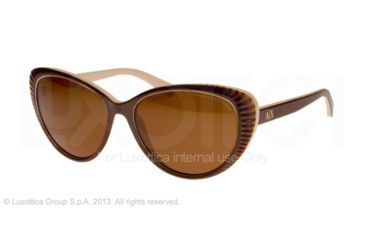 Armani Exchange AX4013 Sunglasses 805873-59 - Brown/Cream Frame, Brown Solid Lenses