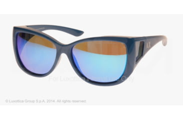 Armani Exchange AX4023S Sunglasses 808933-58 - Imperial Blue Frame, Blue Mirror Lenses