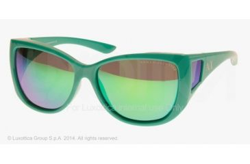 Armani Exchange AX4023S Sunglasses 809123-58 - Peacock Green Frame, Green Solid Lenses