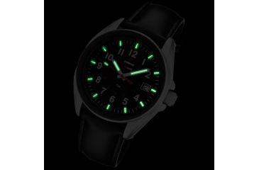 Armourlite 38mm Shatterproof Glass Swiss Tritium Watch, Silver, Black, Small AL503-LBL