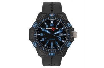 Armourlite Caliber Series Blue Watch With Rubber Band, Black/Blue, Small AL611