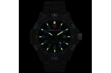 Armourlite Caliber Series Blue Watch With Steel PVD Band, Black/Blue, Small AL621