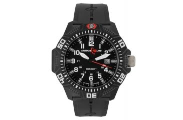 Armourlite Caliber Series White Watch With Rubber Band, Black/White, Small AL613