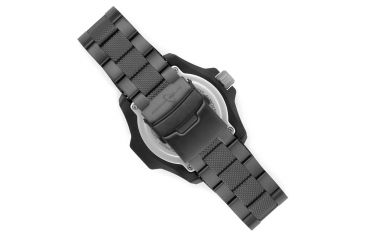 Armourlite Caliber Series White Watch With Steel PVD Band, Black/White, Small AL623