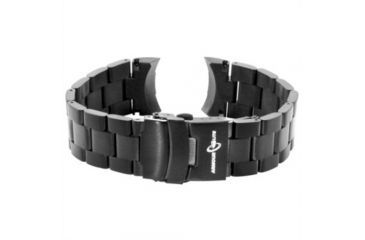 Armourlite Captain Field Watch Band - Stainless Steel Bracelet, Black, Small AL300BLK
