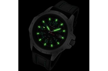 Armourlite ColorBurst Shatterproof Scratch Resistant Glass Tritium Watch, Silver, Green, Black, Small AL203