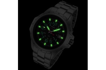 Armourlite ColorBurst Shatterproof Scratch Resistant Glass Tritium Watch, Silver, Green, Small AL213