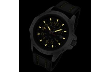 Armourlite ColorBurst Shatterproof Scratch Resistant Glass Tritium Watch, Silver, Yellow, Black, Small AL204