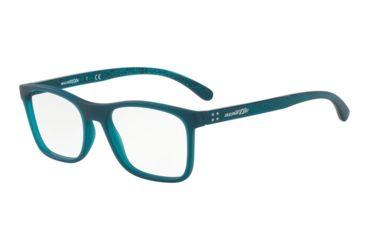 ac05489ac5d3 Arnette AKAW AN7125 Single Vision Prescription Eyeglasses 2472-53 - Matte  Transparent Blue Frame