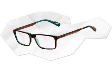 Arnette Arnette Auxilliary Eyeglasses, Havana On Green/Transparent AN7051-0251BI