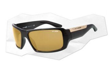 Arnette Big Deal Sunglasses - Gloss Black Frame and Gold Mirror Lens AN4168-02