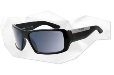 Arnette Big Deal Sunglasses - Gloss Black Frame and Grey Lens AN4168-03
