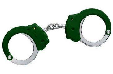 ASP Chain Handcuffs Aluminum Black 3 Pawl Green, European 66103