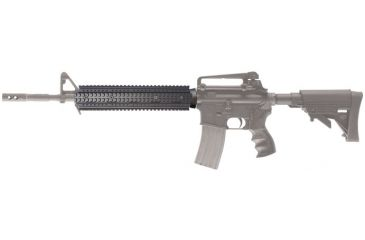 AR-15 Rifle Length Two Piece Forend mounted to rifle