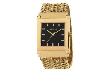 Axcent Small Talk Watch, Gold Mesh Strap, Black Face, Gold Hands X17737-232