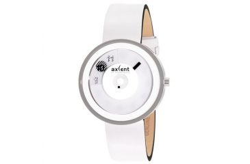 Axcent Shade Watch, White Strap, White Face, Black Hands X27104-151