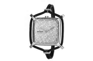 Axcent Snowflake Watch, Black Strap, Silver Face, Silver Hands X32412-057