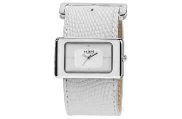 Axcent Stone Watch, White Strap, White Face, Silver Hands X40272-131